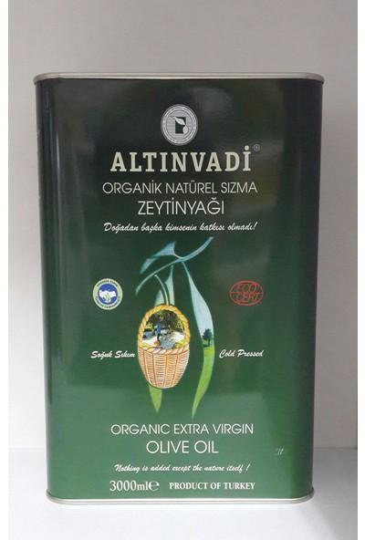 Altın Vadi Organik Natürel Sızma Zeytinyağı 3000 ml Teneke