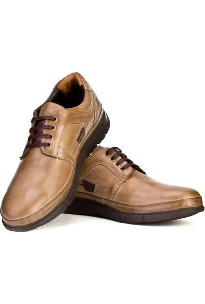 Cabani Bağcıklı Hafif Taban Günlük Erkek Ayakkabı Yeşil Sabunlu Deri