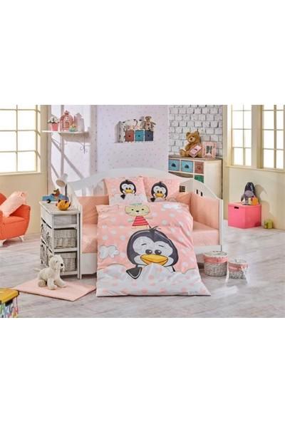 Hobby Bebek Nevresim Takımı Penguin Somon