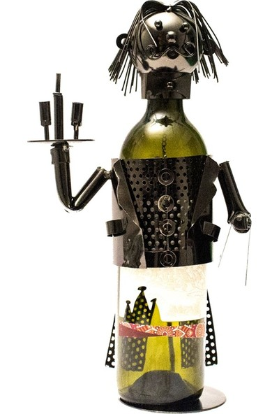 Metal Garson Dekoratif Şaraplık - DK027