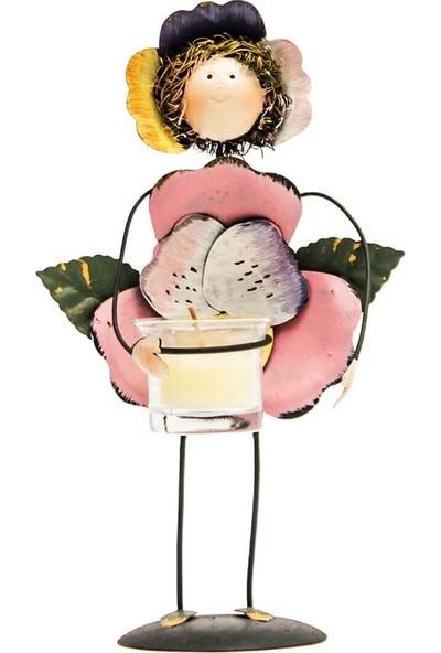 Mumlu Çiçek Kız Biblo- DK042