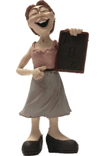 El Boyaması Kadın Öğretmen Biblo - H012