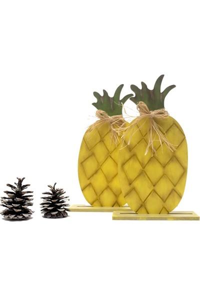 Özel Tasarım Dekoratif Ahşap Ananas - H020