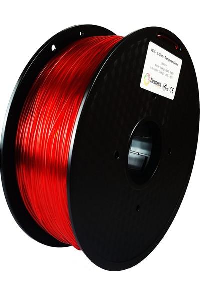 Filament Dünyası PETG Transparan Kırmızı 3D Yazıcı Filamenti 1.75 mm - 1 kg