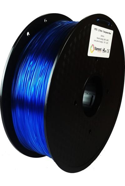 Filament Dünyası PETG Transparan Mavi 3D Yazıcı Filamenti 1.75 mm - 1 kg
