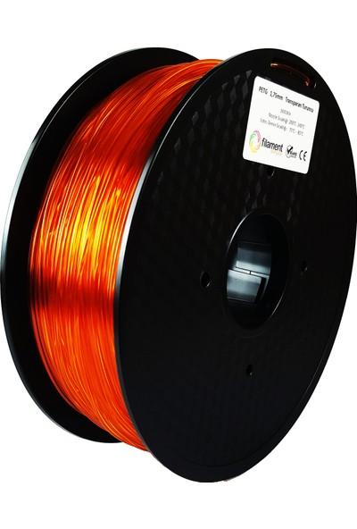 Filament Dünyası PETG Transparan Turuncu 3D Yazıcı Filamenti 1.75 mm - 1 kg