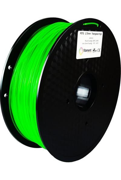 Filament Dünyası PETG Transparan Yeşil 3D Yazıcı Filamenti 1.75 mm - 1 kg
