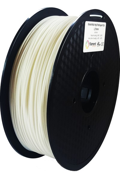 Filament Dünyası Karanlıkta Yeşil Parlayan Fosforlu PLA Filament 1.75 1 kg