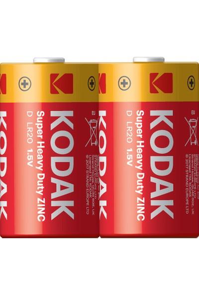 Kodak Çinko Karbon Büyük Pil - 2'li Paket