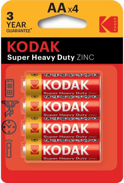 Kodak Blisterli Çinko Karbon Kalem Pil - 4'lü Paket