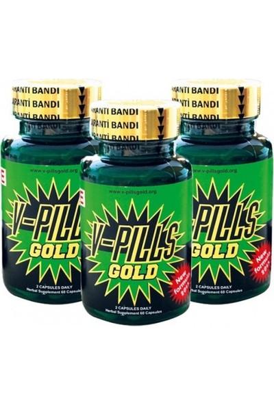 Lovetoy V-Pills Gold 3'lü Kutu Barkod Sorgulamalı + Penis Pompası Hediye