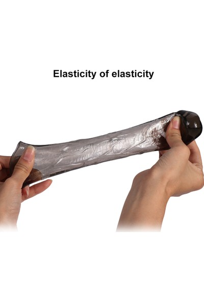 Baile 3lü Penis Kılıfı Set Ucu Dolgulu Uzatmalı Prezervatif Zenci Dildo