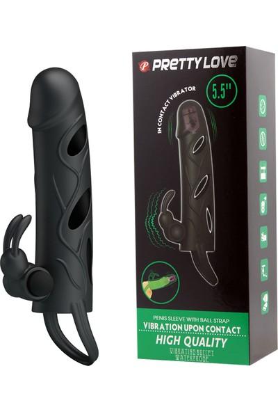 Baile Çift Titreşimli Uzatmalı Penis Kılıfı Zenci Penis Vibratör