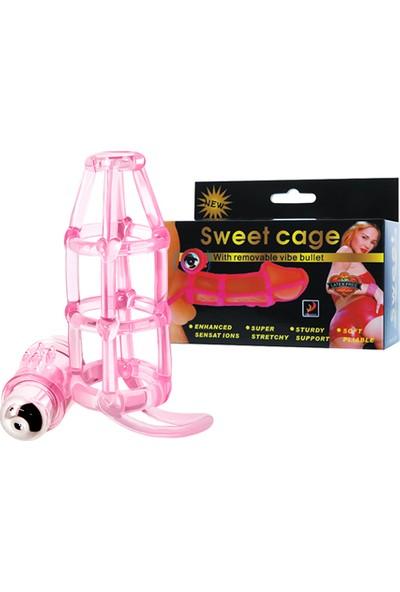 Baile Cage 10 Titreşimli Penis Kılıfı Penis Kafesi Klitoris Vibratör