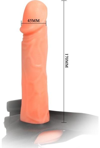 Baile İçi Boş Belden Bağlamalı Titreşimli Protez Penis Vibratör Strapon