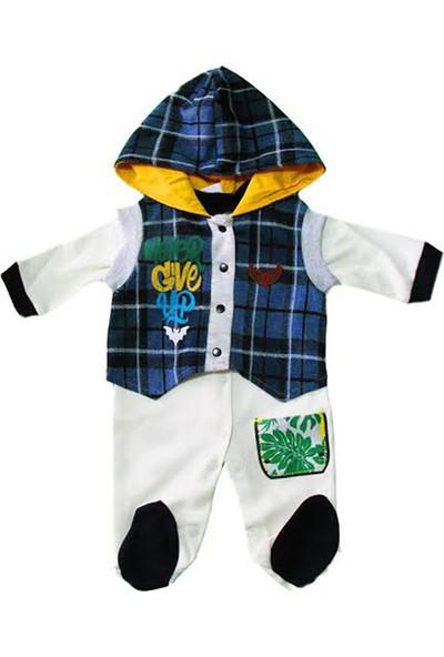 Jikko 2125 Erkek Bebek Yelekli Tulum Lacivert
