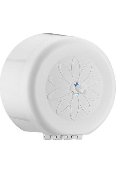 Rulopak Mini Cimri Tuvalet Kağıdı Dispenseri Beyaz- R-1311S