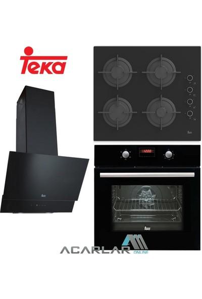 Teka Chef 4 Siyah Ankastre Set (Hak 625, Pac 60, Atv 60)