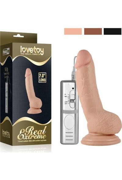 Baile Lovetoy Real Extreme Titreşimli Realistik Vibratör Penis 18 cm