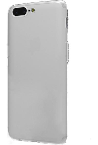 TeknoArea One Plus 5 Kılıf Ultra ince Silikon Kapak 0.2 mm Transparan