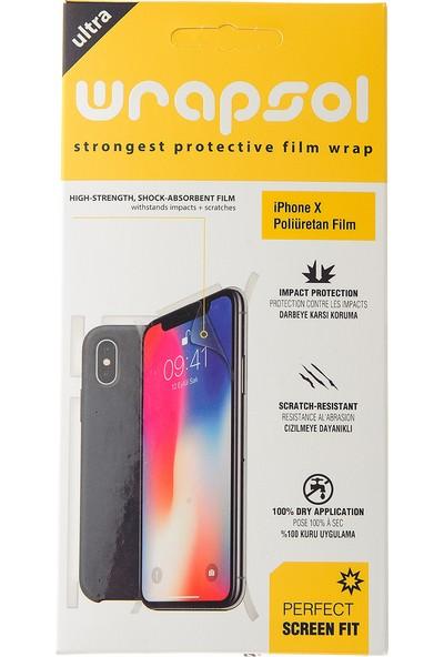 Wrapsol Apple iPhone X Ön & Arka Ekran Koruyucu