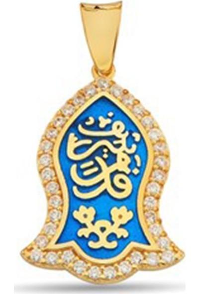 Nali Şerif Gümüş 11618 Kademi Şerif Altın Kaplamalı Gümüş Bayan Kolye Ucu