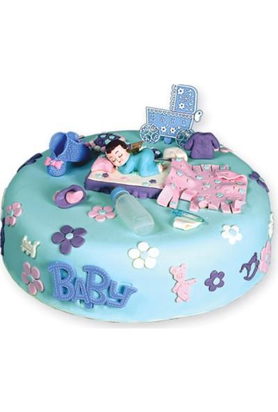 Elit parti Erkek Bebek Plastik Pasta Süsü 6 Parça