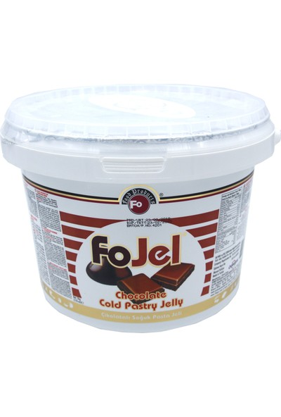 Fo Çikolatalı Soğuk Pasta Jeli (5 kg)