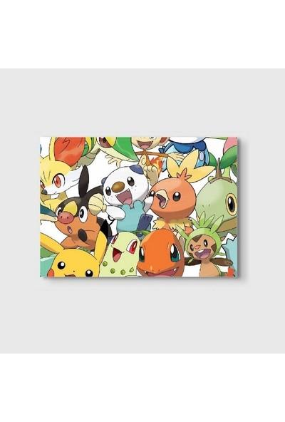 Germenicia Art Pikachu Ve Ailesi Kanvas Tablo