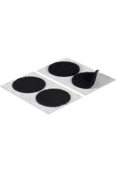 Aso Cırt Bant Yuvarlak Arkası Yapışkanlı 1,5 cm Siyah 100 Adet (Dişi Erkek Takım)