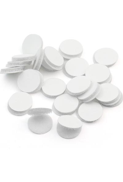 Aso Cırt Bant Yuvarlak Kesim Arkası Yapışkanlı Takım Beyaz 2 cm 500 adet