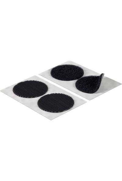 Aso Cırt Bant Yuvarlak Kesim Arkası Yapışkanlı Takım Siyah 1 cm 500 adet