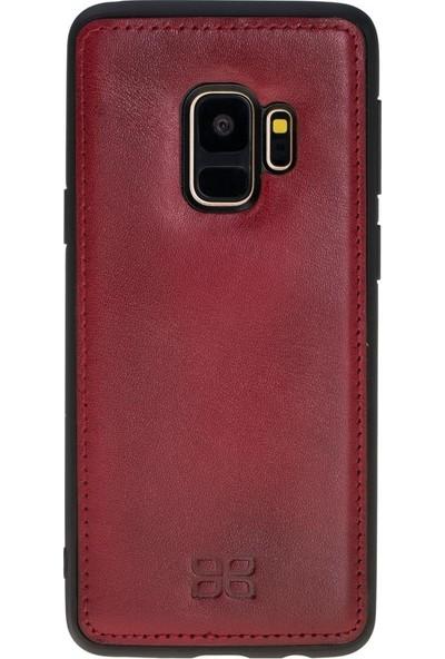 Bouletta Samsung Galaxy S9 Magnetwallet Telefon Kılıfı - V4EF Bordo