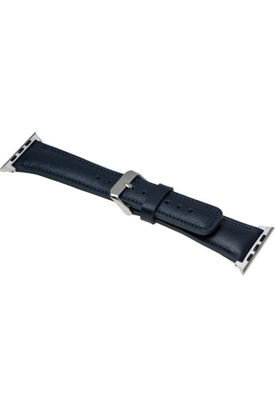 Bouletta Apple Watch 42 mm Kayış - Kordon Saffino Navy Blue