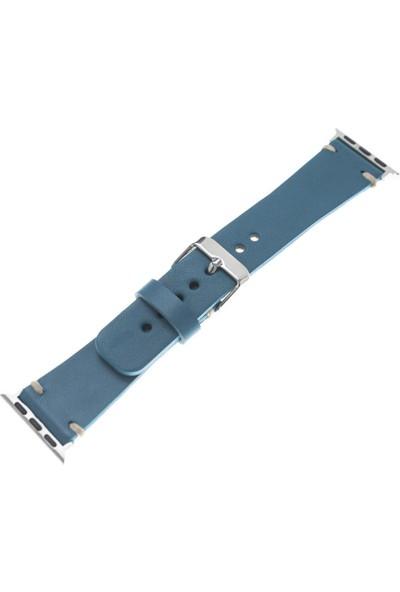 Bouletta Apple Watch Deri Kordon/Kayış Saraç Dikişli - BRN4 Welder