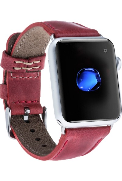 Bouletta Apple Watch Deri Saat Kordonu 42 mm - Cz04 Kırmızı