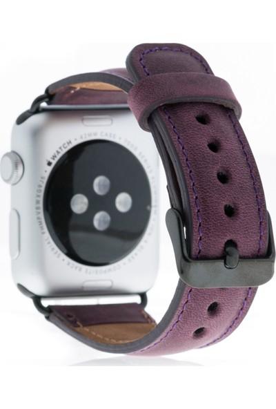 Bouletta Apple Watch Deri Saat Kordonu 42 mm - G7 Mor