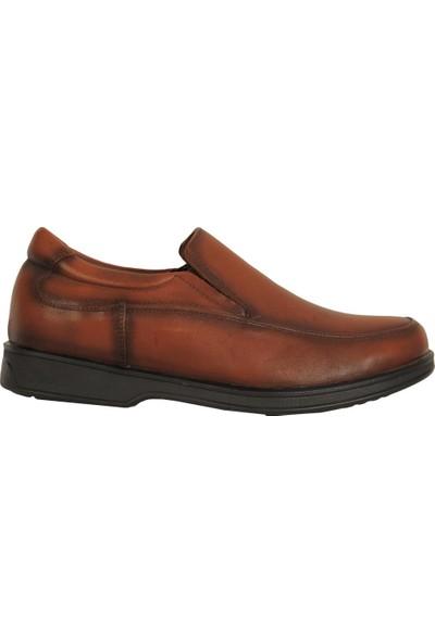 Balayk 1095 Taba Bağsız %100 Deri Günlük Erkek Klasik Ayakkabı