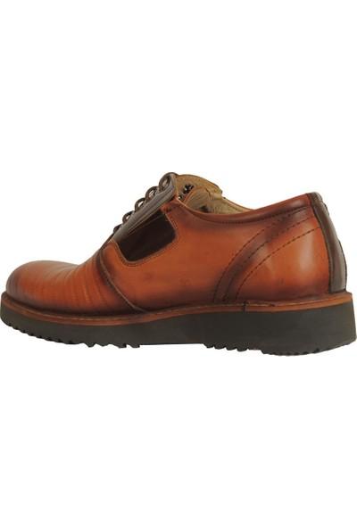 Taşer 4344 Taba %100 Deri Günlük Klasik Erkek Ayakkabı