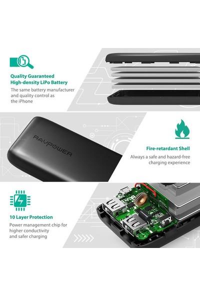 RAVPower Ace Seri 12000mAh Powerbank Taşınabilir Şarz Cihazı