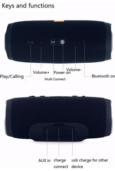 Btech Charge 3+ Bluetooth Taşınabilir Kablosuz Hoparlör Siyah