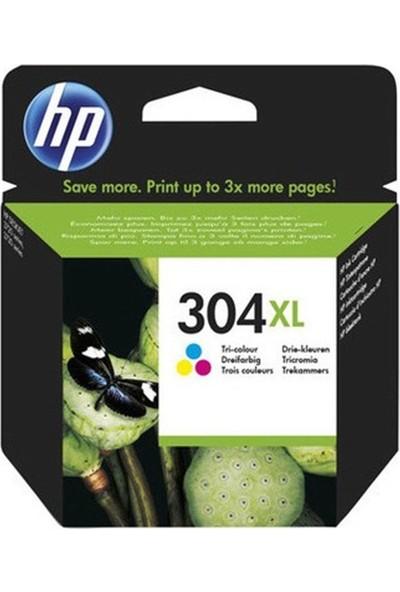 HP (304XL) C-M-Y-Mürekkep Kartuş (N9K07AE)