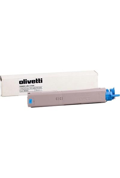 Olivetti D-Color MF 1600-2000 Mavi Toner /B0682 OKI C3500-C3520-Mc360