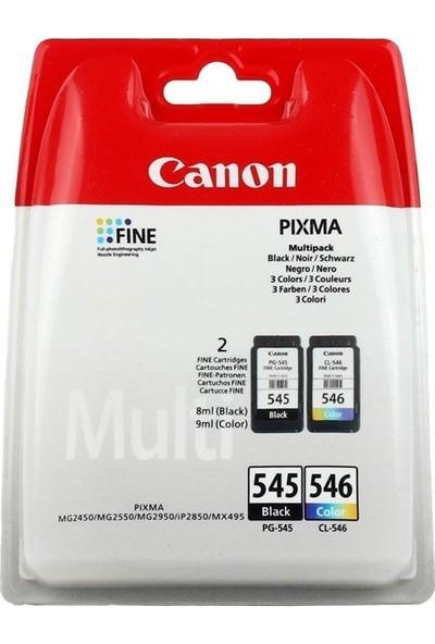 Canon PG-545BK+ CL-546 Kartuş (2'li Paket) (MG2450-MG2550)