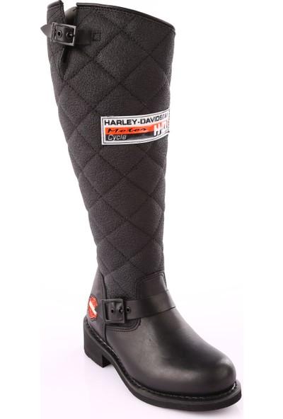 Harley Davidson Laconia/Hi/646 Kadın Çizme Siyah