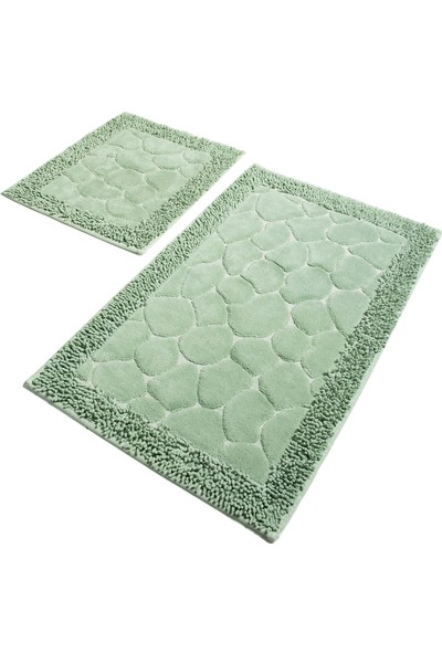 Chilai Home Stone Cotton Mint 2'li Set Banyo Halısı