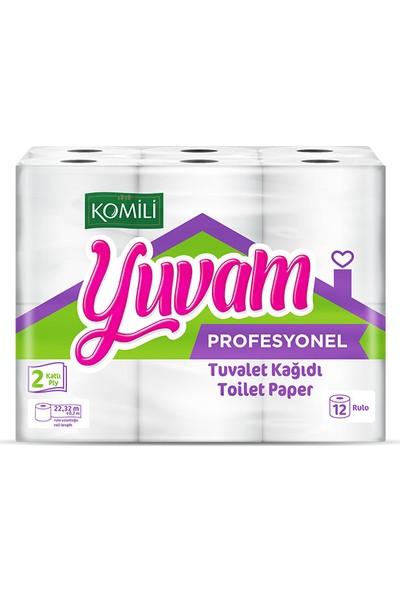 Komili Yuvam Profesyonel Ekonomik Tuvalet Kağıdı 12 Li (1 Paket)