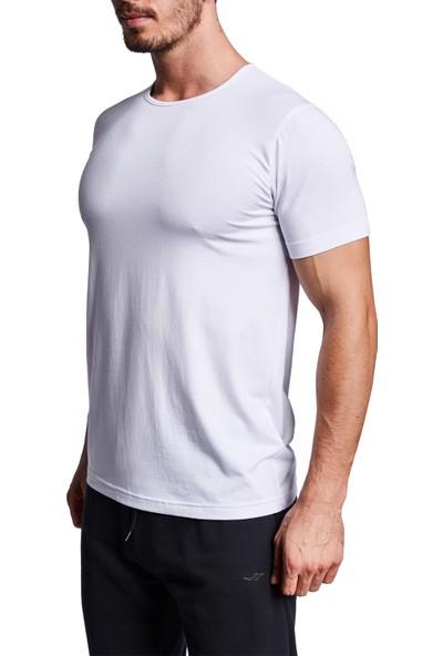 Lescon 19S-1227-19B Beyaz Erkek Kısa Kollu Tişört