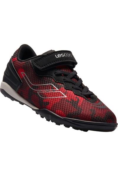 Lescon Thor-030 H-19B Kırmızı Çocuk Halı Saha Ayakkabısı