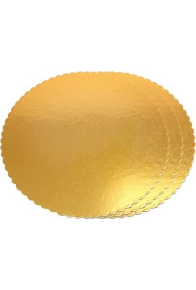Elit Parti 32 cm Gold Yuvarlak Karton Pasta Altlığı Kalın